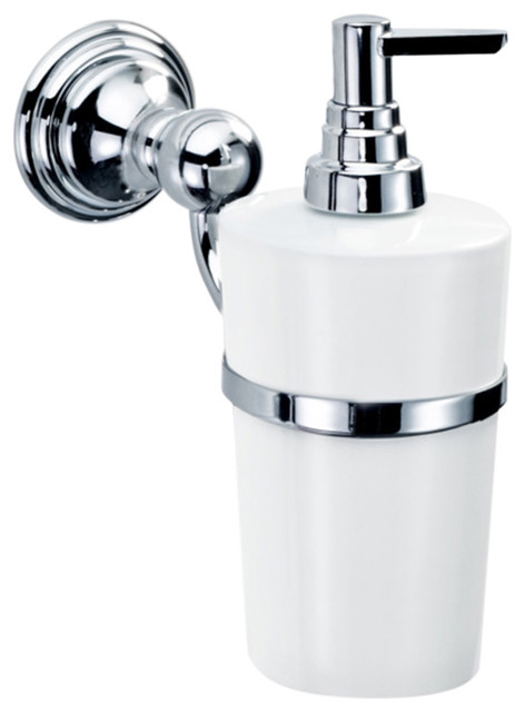 Dw Cl Wsp Wall Mounted Soap Dispenser In Chrome Contemporary