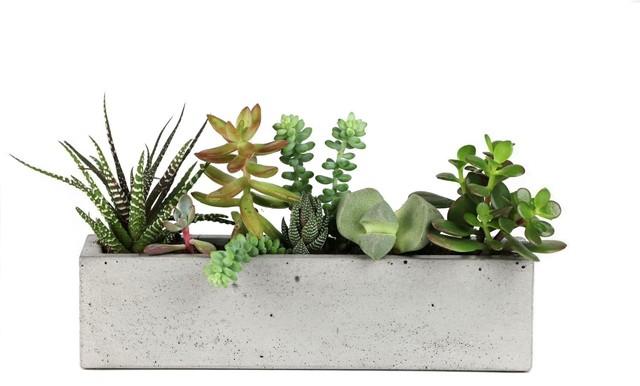 Super Concrete Windowsill Planter - Modern - Indoor Pots And Planters  VQ01
