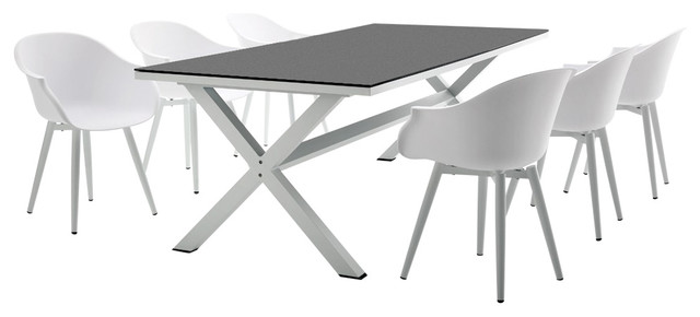 contemporary outdoor dining tables uk piece rectangular table set modern furniture sets