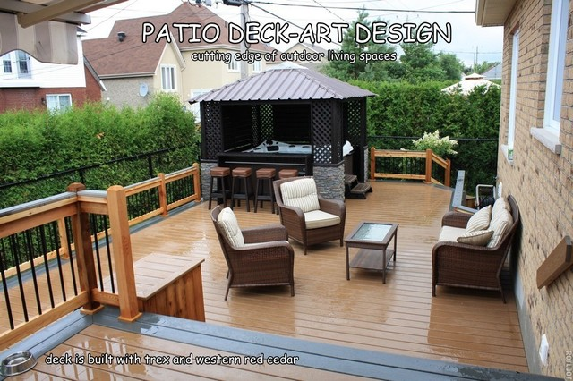 patio deck art designstrex traditional porch - Trex Deck Design Ideas