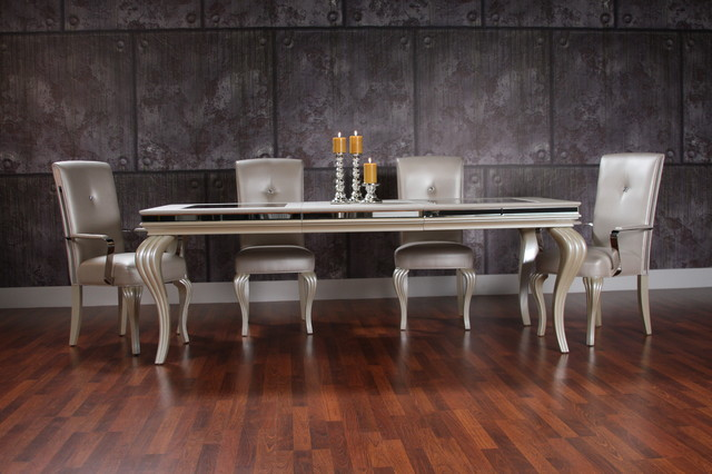 hollywood swank dining set - transitional - dining room - miami