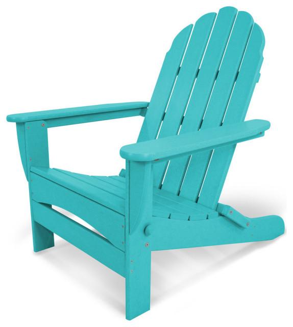 POLYWOOD AD7030AR Classic Oversized Curveback Adirondack Chair Aruba