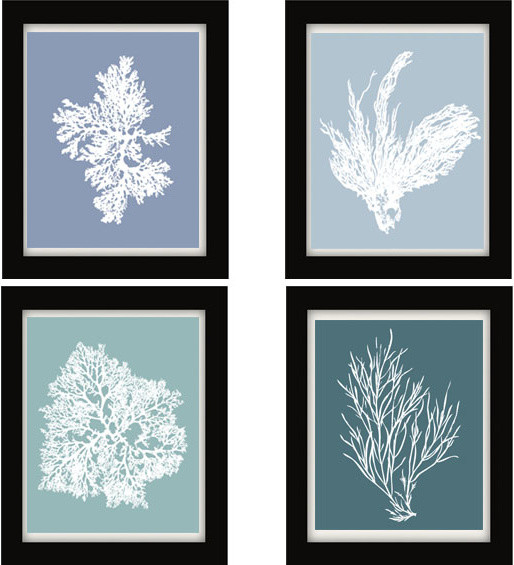 Blue Wall Decor coral wall art | winda 7 furniture