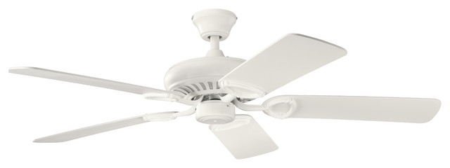 52 Sutter Place Fan, Satin Natural White/satin White.
