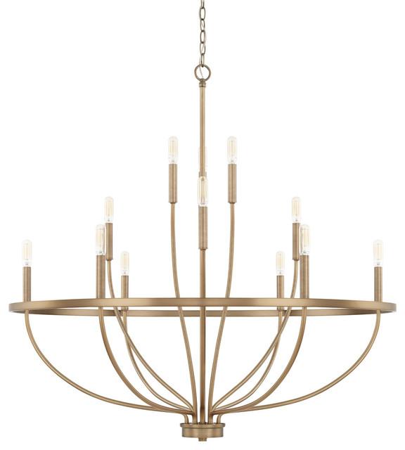 Capital Lighting 428501AD Grayson Chandelier, Aged Brass