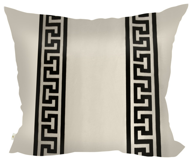 GreekClass Decorative Pillow Covers Collection Off-White, Square Set of 2 - Contemporary ...