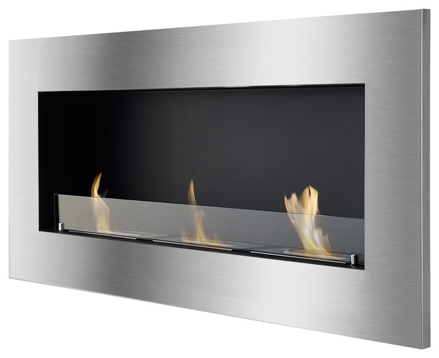 Optimum Wall-Mounted/Recessed Ventless Ethanol Fireplace With ...