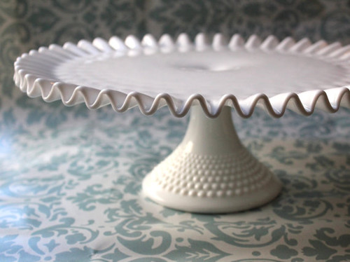 Milk Glass Cake Stand by The Roche Studio traditional serveware