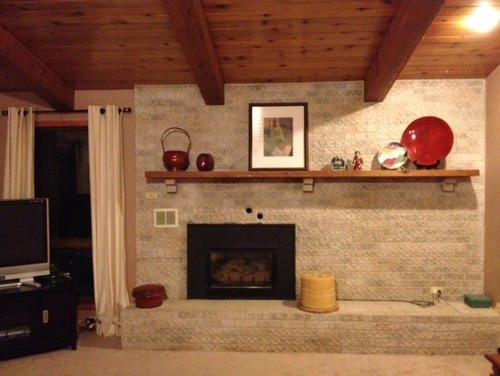 Need help w/ refacing this fireplace wall