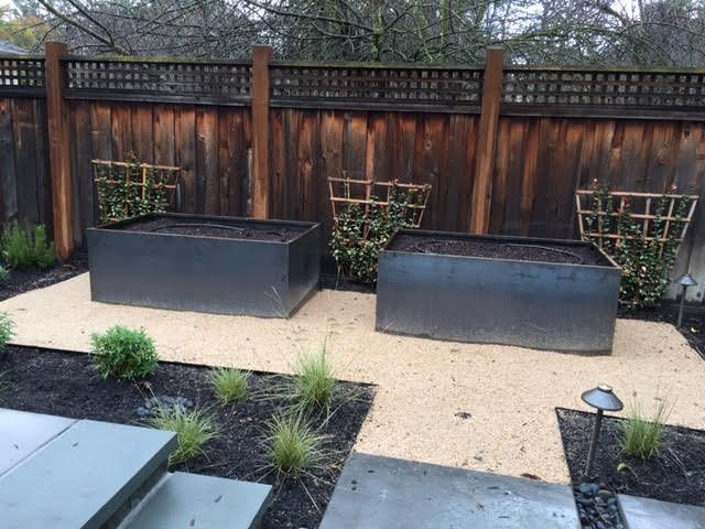 Custom Corten Steel Planter Bed Planters Los Angeles By Nice