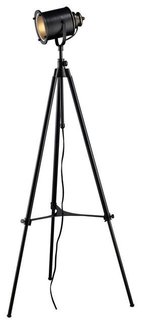 37-74 Ethan Adjustable Tripod Floor Lamp, Restoration Black.