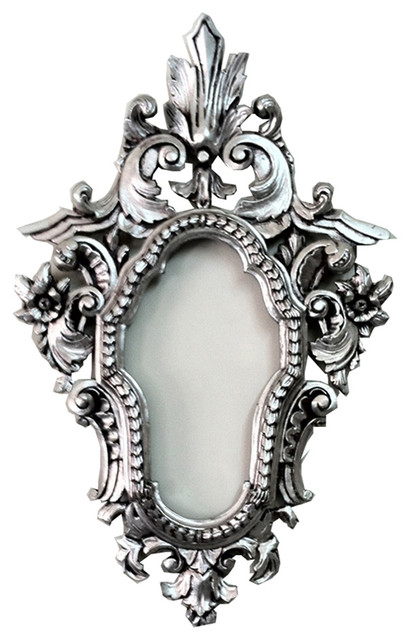 decorative silver wall mirror frame in high density polyurethane traditional picture frames - Metal Mirror Frame
