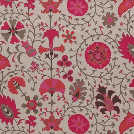 Suzani Fabric, Pink