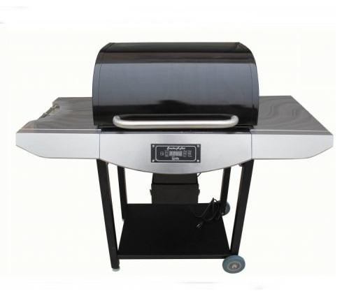 Original Smoke-N-Hot Pellet Grill Pro. -Stainless Steel.