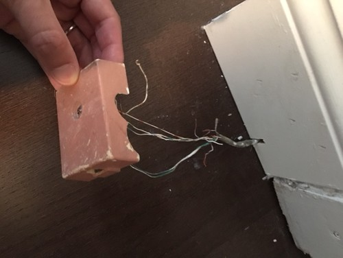 Remove old phone jack box & wires