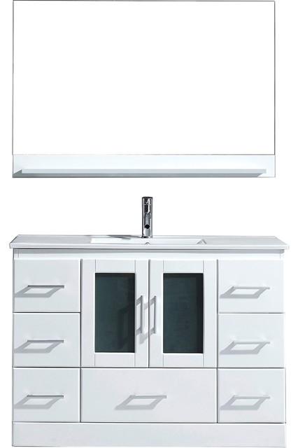 "Zola Bathroom Mirrors zola 48"" vanity - contemporary - bathroom vanities and sink"