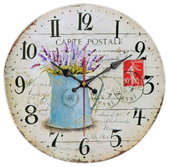 Retro Wall Clock Retro Battery Clocks Decorative Home Clock Silent ...