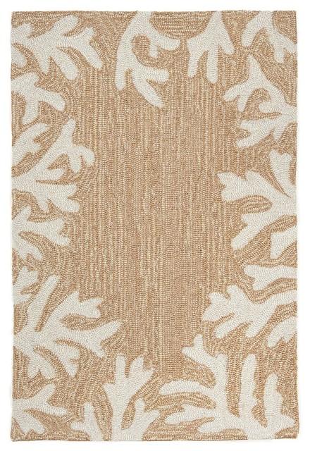 trans ocean capri coral border 12 neutral area rug