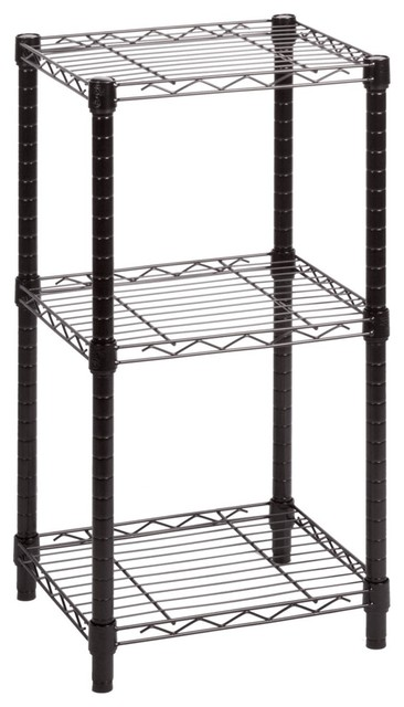 3 Tier Wire Shelving | Honey Can Do 3 Tier Black Wire Shelving Tower 14 X15 X30