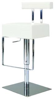Pneumatic Gas Lift Adjustable Height Swivel Stool, White
