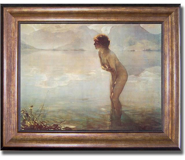 Paul Chabas 'September Morn' Framed Canvas Art