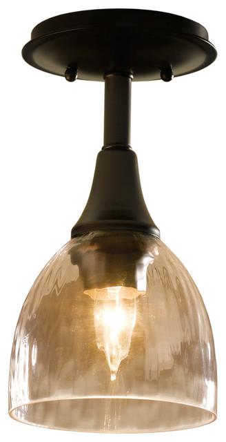 Hubbardton Forge (126703) 1 Light Trumpet Semi-Flush.