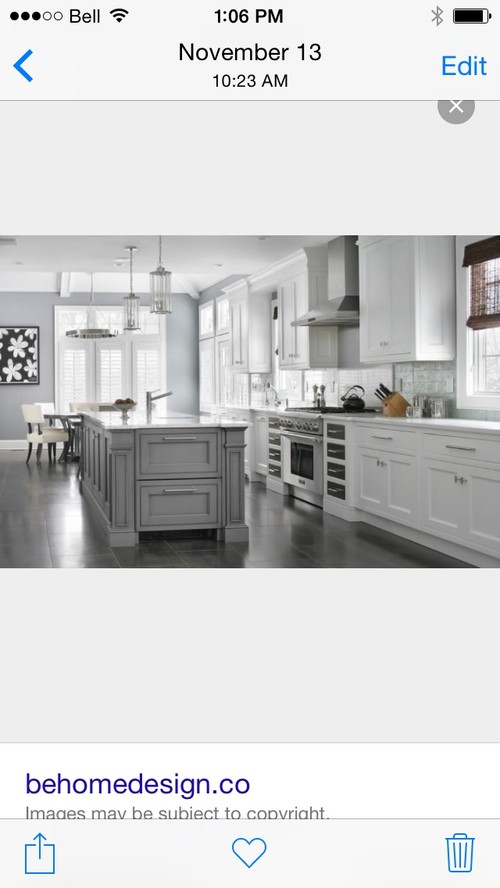 Advice request - Kitchen island - grey or white cabinets?