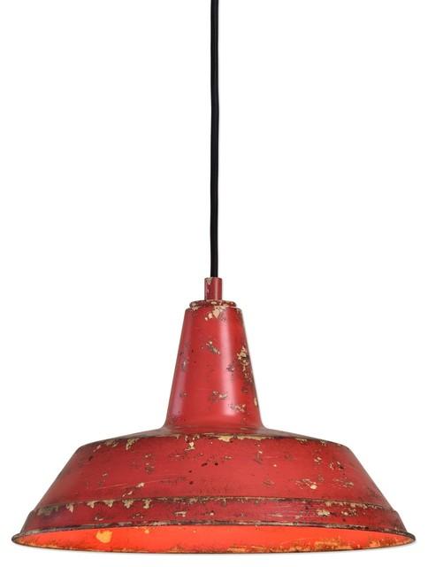 round pendant lighting. Distressed Industrial Red Round Pendant Light Kitchen Rustic Urban Cottage Industrialpendantlighting Lighting