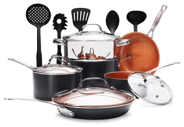 Gotham Steel 15 Piece Cookware And Utensil Set.