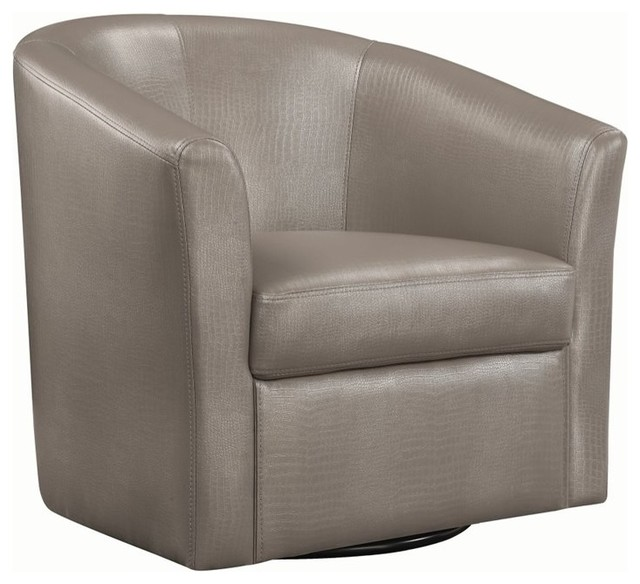 Terrific Coaster Contemporary Styled Accent Swivel Chair Red Vinyl Upholstery Caraccident5 Cool Chair Designs And Ideas Caraccident5Info