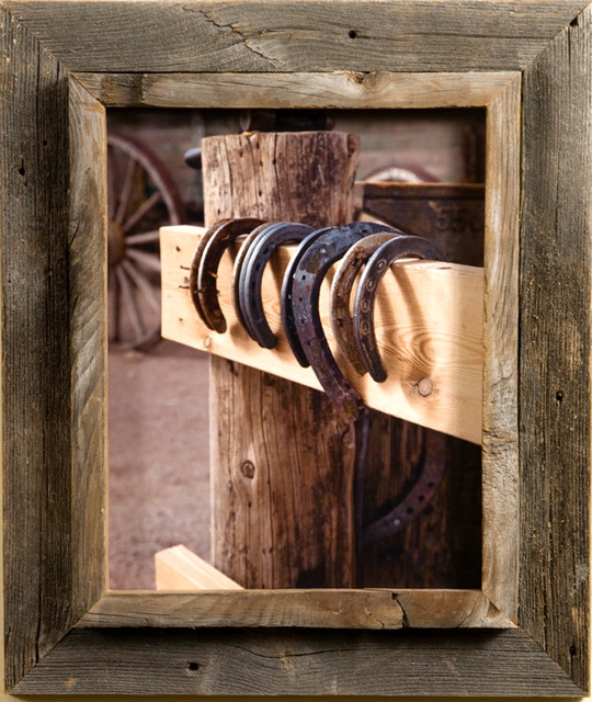 """Western Picture Frame Western Rustic Narrow Width 2.25"""" Size, 12x18"""