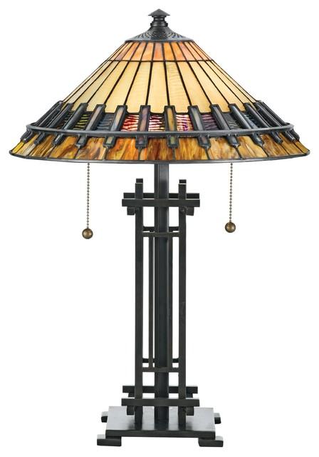 2 Light Standard Bulb Table Lamp In Vintage Bronze.