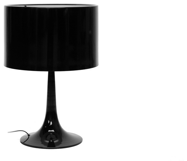 Delightful Tulip Black Modern Table Lamp