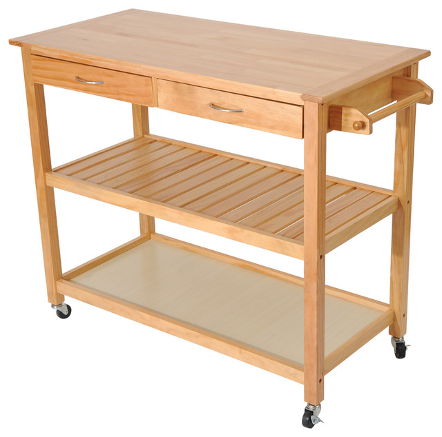 45 Wood Kitchen Utility Trolley Island Cart.