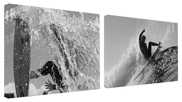 Ready2hangart Nicola Lugo Canvas Surf Art 2-Pc Set.