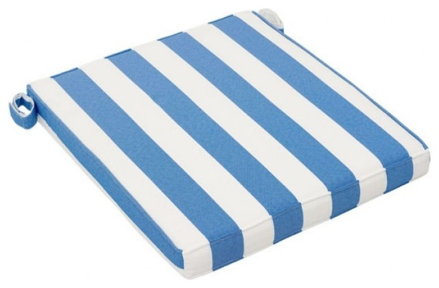 chair seat cushion blue and white set of 2 outdoor cushions and