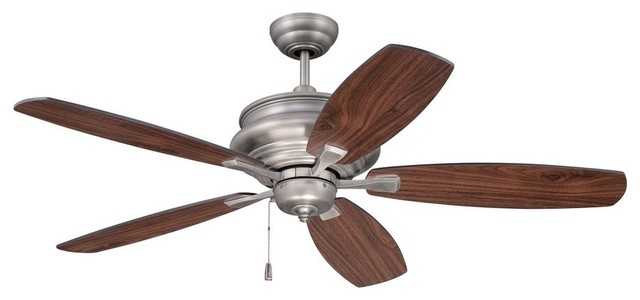 "Yorktown 52"" Ceiling Fan Legacy Brass Walnut/black Blade Cr."