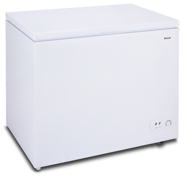Upright Deep Chest Freezer 6.9 Cubic Ft Adjustable Thermostat Temp, White.