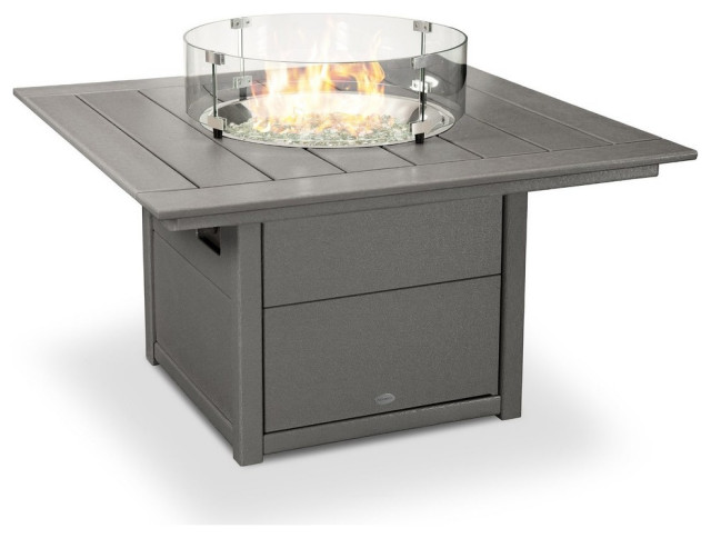 """Polywood Square 42"""" Fire Pit Table - Transitional - Fire ..."""