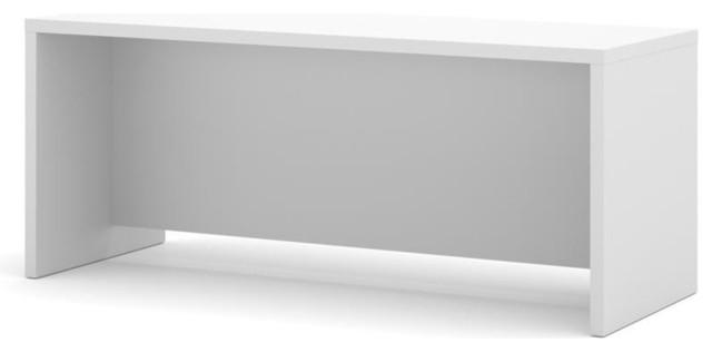 Bestar Pro-Linea Executive Desk, White.