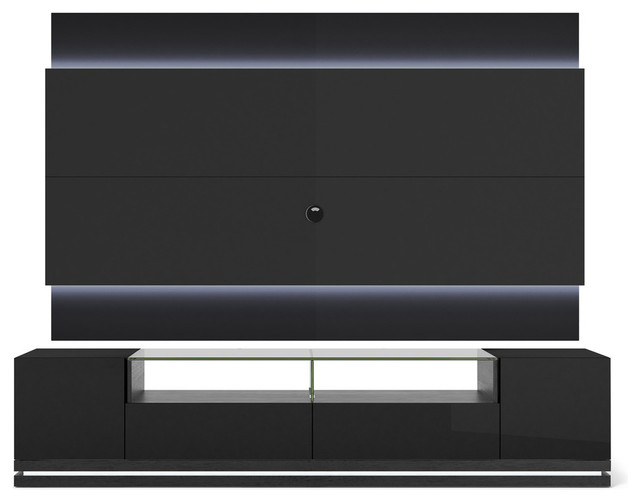 Vanderbilt Tv Stand And Lincoln 2 2 Floating Wall Tv Panel With Led