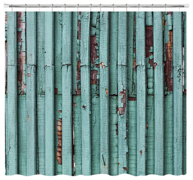 Distressed Turquoise Shower Curtain Standard