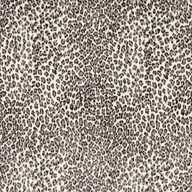 Black And White Leopard Microfiber Stain Resistant Upholstery Fabric By The Yard