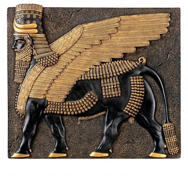 Shop Houzz : Design Toscano Classic Ancient Egyptian Collectible Assyrian Winged Bull Wall ...