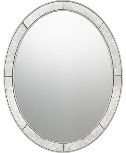 Reflections Wall Mirror in Silver Leaf by Quoizel
