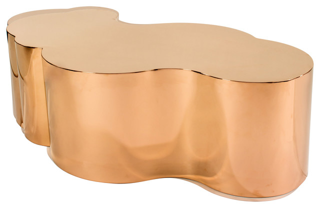 Luca Chrome Coffee Table Contemporary Coffee And Accent Tables
