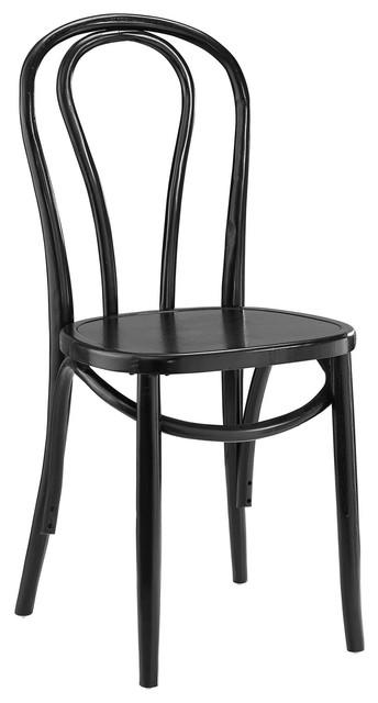 Eon Dining Elm Wood Side Chair, Black