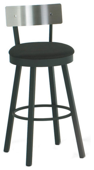 Artefac Swivel Stool With Stainless Steel Backrest Bar