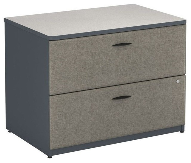 """Bush BBF Series A 36"""" 2-Drawer Lateral File, Beech - Contemporary - Filing Cabinets - by Homesquare"""