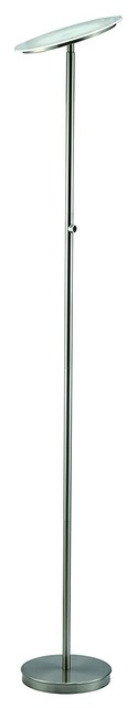 "Sh Lighting 24w 4-Level- Touch Dimmable Led Torchiere Floor Lamp, Silver, 70""."
